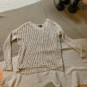 American eagle cream crochet sweater